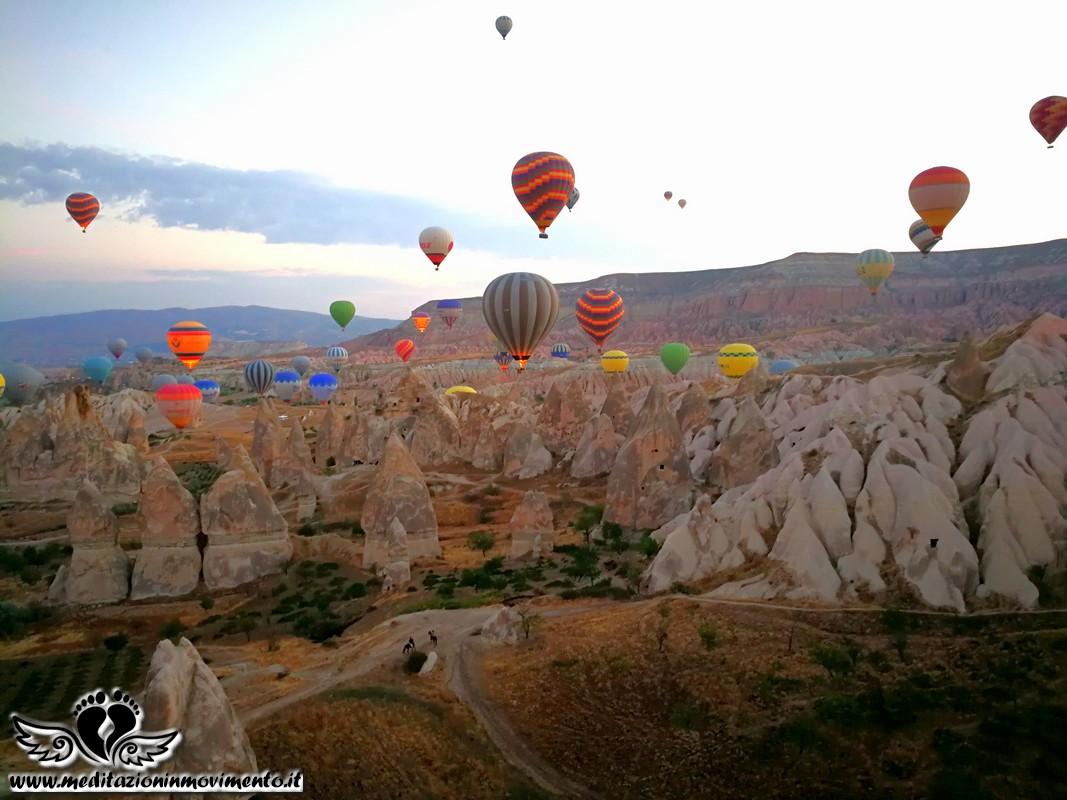 Viaggio a piedi walking in Cappadocia